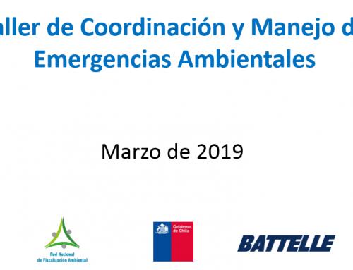 Taller de gestión y coordinación de emergencias ambientales