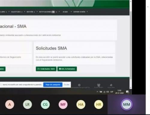 SMA realizada capacitación SMA-OS a SERNAGEOMIN