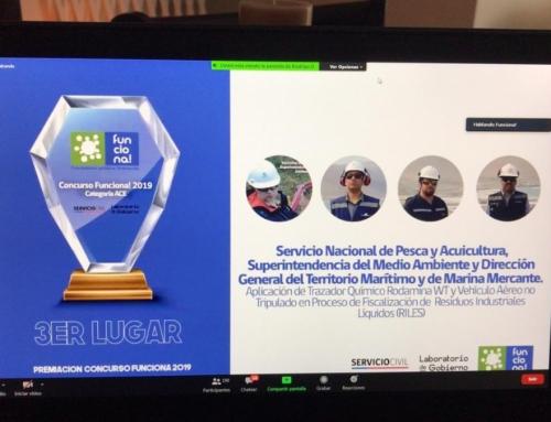 SMA, SERNAPESCA y DIRECTEMAR de Arica ganan tercer lugar en Concurso Funciona! 2019, en la categoría Administración Central del Estado