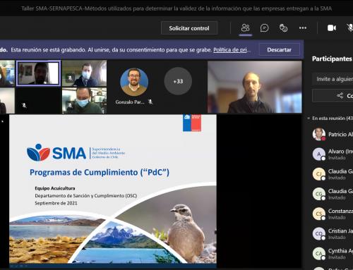 SMA realizó Taller de capacitación a profesionales de SERNAPESCA